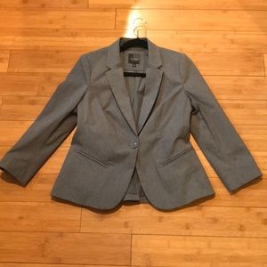 The Limited Gray Exact Stretch Blazer